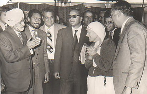 Dr Shamsher Singh with mother Teresa
