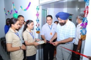 Dr Ranbir Singh inaugurating the hall